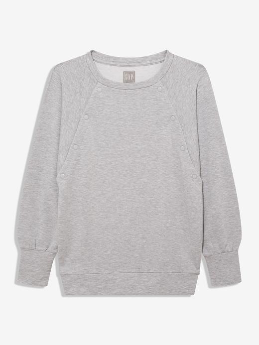 Kadın Gri Maternity Pullover Sweatshirt