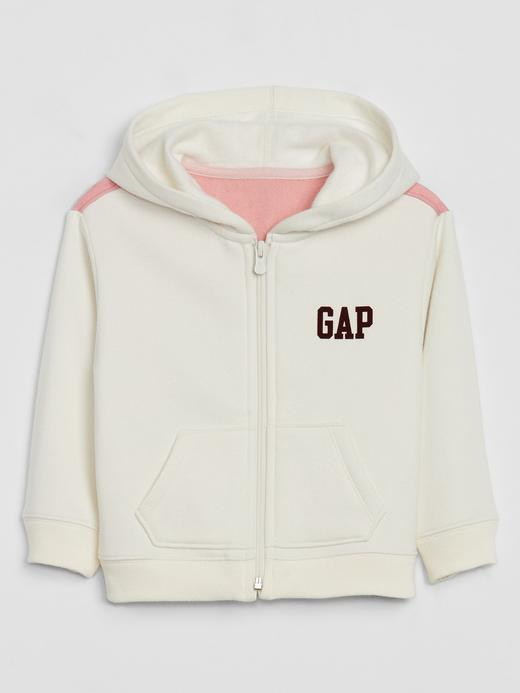 Kız Çocuk Beyaz Gap Logo Kapüşonlu Sweatshirt