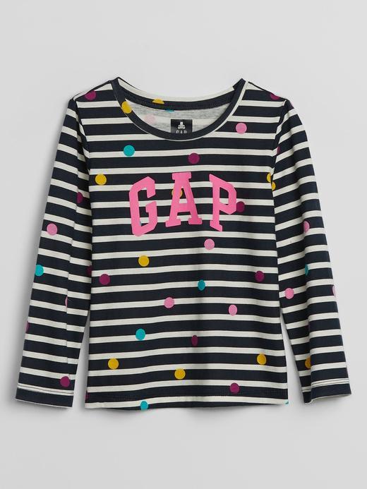 Kız Bebek Lacivert Gap Logo Uzun Kollu T-Shirt