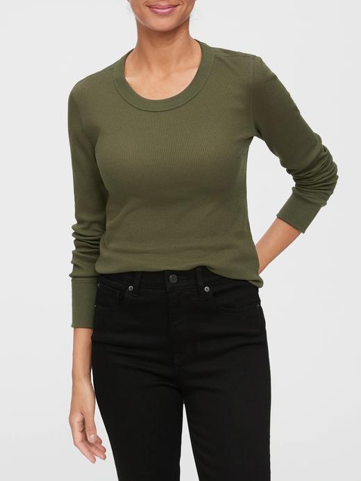 Kadın Yeşil Uzun Kollu T-Shirt