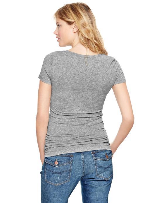 Beyaz Maternity Kısa Kollu T-Shirt