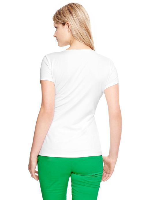 Beyaz Maternity Kısa Kollu Emzirme T-Shirt'ü