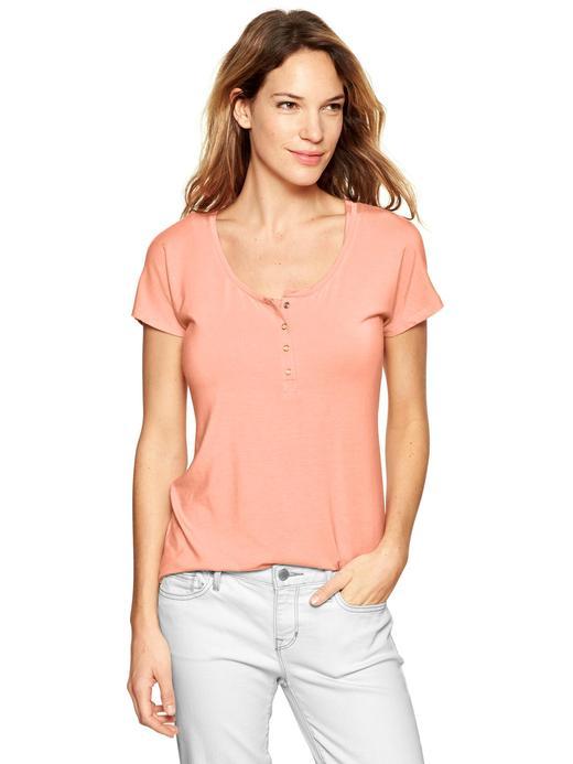 Turuncu Maternity V Yaka T-Shirt
