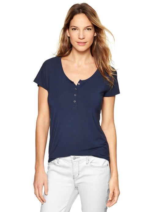 Lacivert Maternity V Yaka T-Shirt