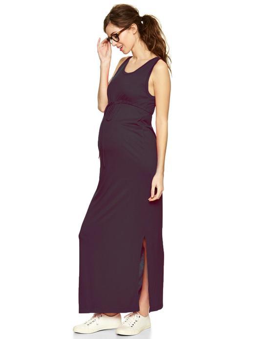 Lacivert Maternity Askılı Elbise