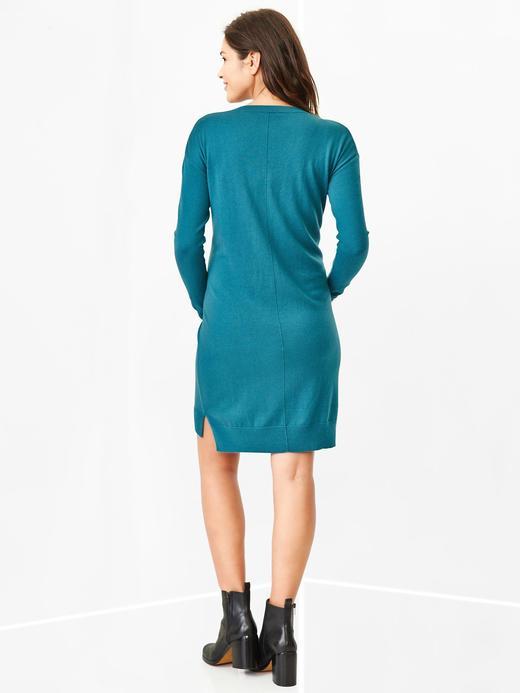 Mavi Maternity Yuvarlak Yaka Elbise