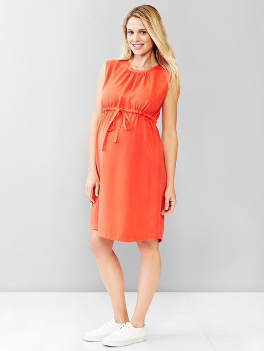 Turuncu Maternity Tencel® Elbise