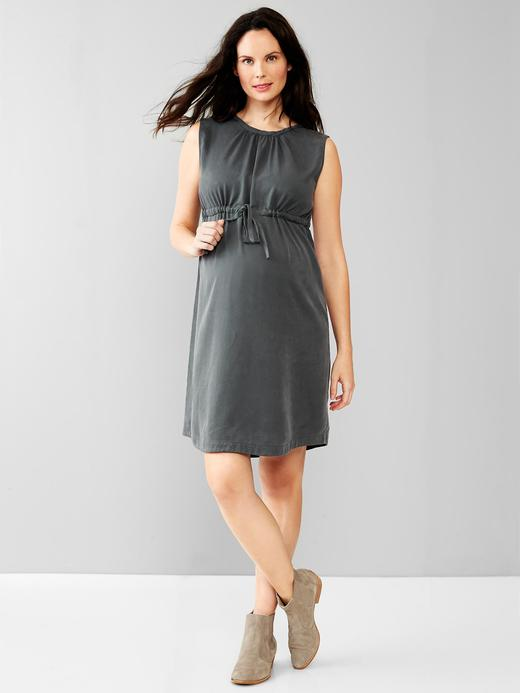 Gri Maternity Tencel® Elbise