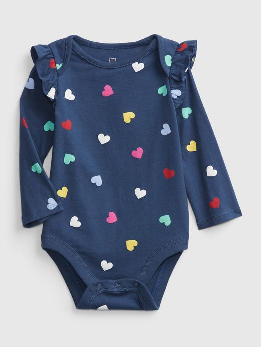 Kız Bebek Lacivert Desenli Body