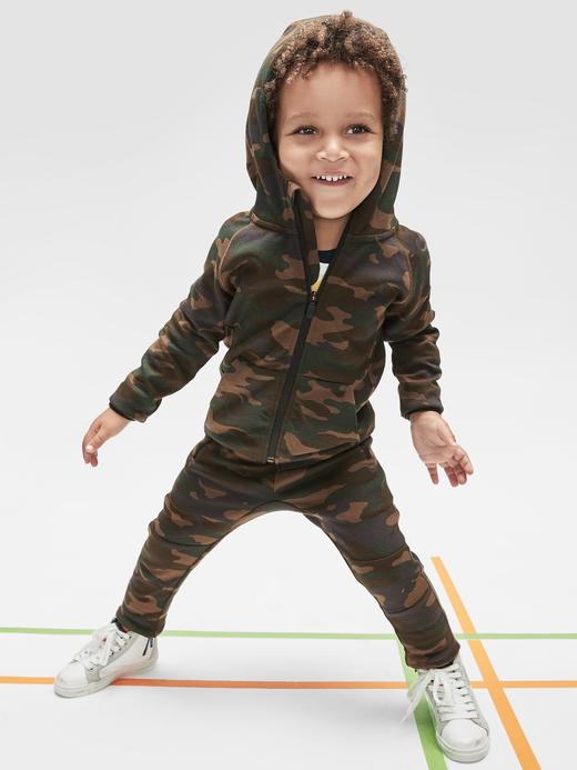 Erkek Bebek Gri GapFit Pull-On Eşofman Altı