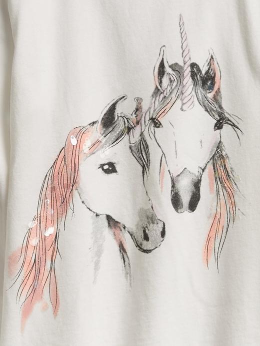 Kız Çocuk Lacivert Uzun Kollu Grafik T-Shirt