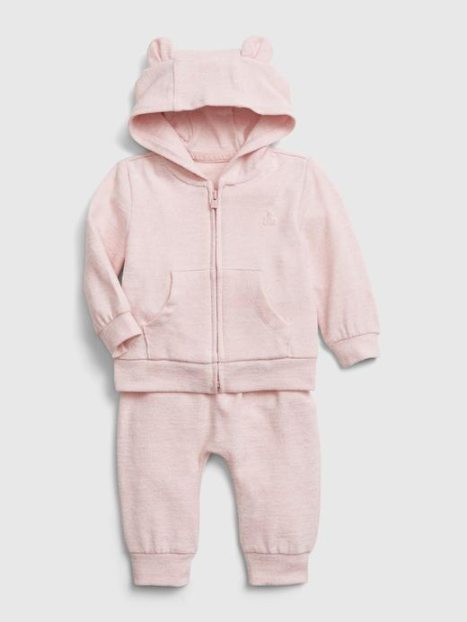 Erkek Bebek Pembe Softspun Sweatshirt ve Eşofman Altı Takımı