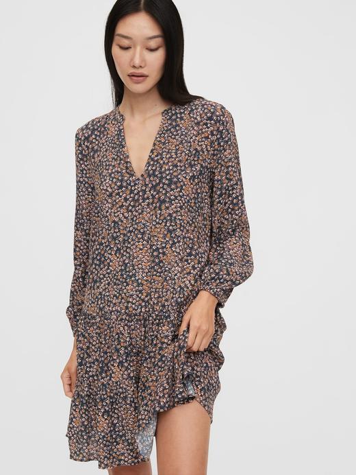 Kadın Kahverengi Uzun Kollu Mini Elbise