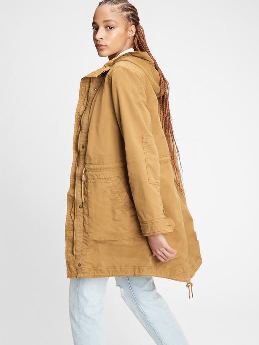 Kadın Kahverengi Utility Parka Ceket