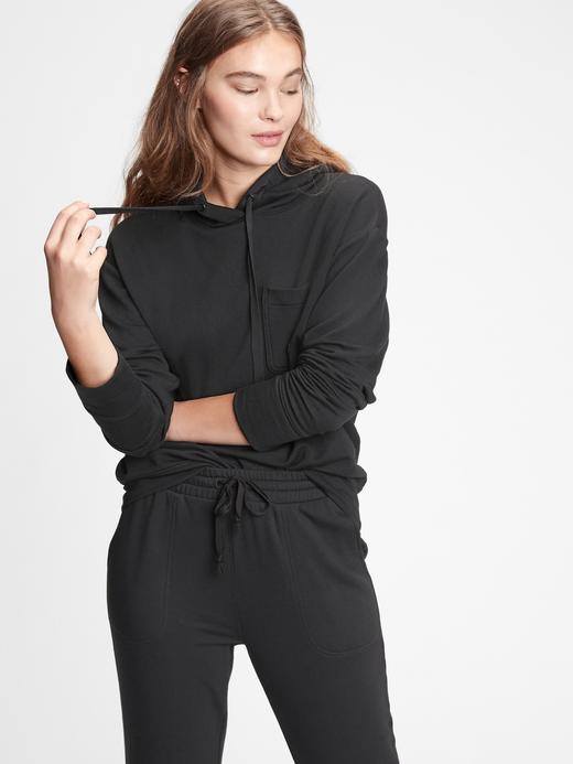 Kadın Siyah Kapüşonlu Sweatshirt