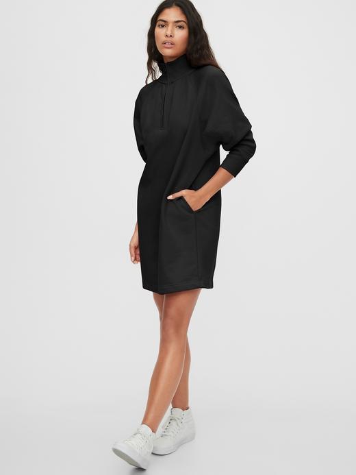 Kadın Siyah Uzun Kollu Mini Elbise