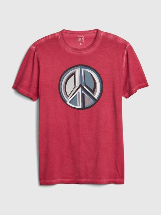 Erkek Kırmızı Kısa Kollu Grafik T-Shirt