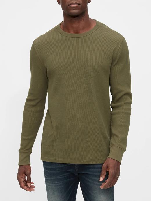 Erkek Yeşil Uzun Kollu T-Shirt