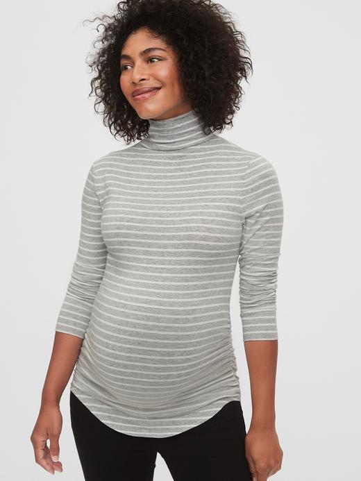 Kadın Gri Maternity Uzun Kollu T-Shirt
