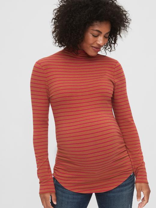 Kadın Turuncu Maternity Uzun Kollu T-Shirt