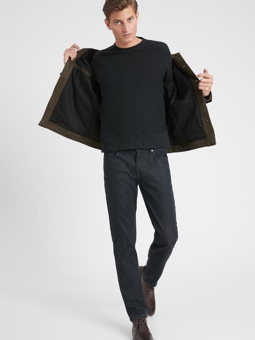 Erkek Siyah Slim Luxe Traveler Jean Pantolon