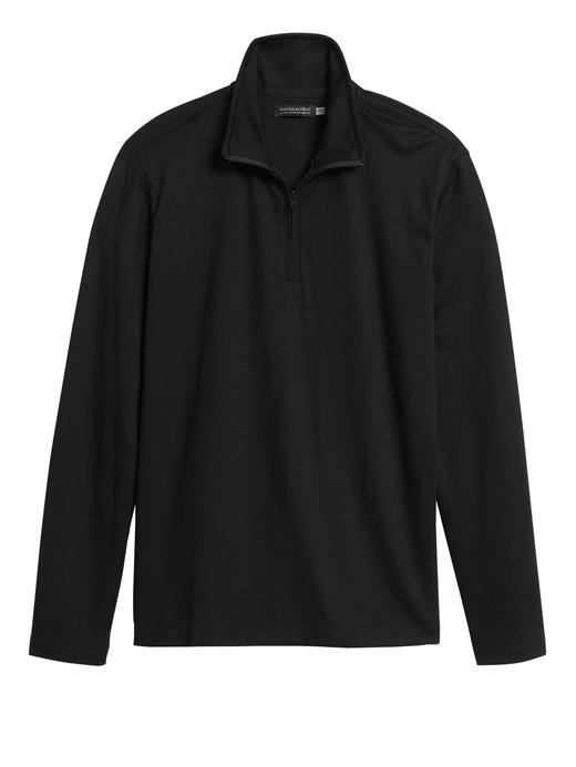 Erkek Siyah Luxury-Touch Performance Sweatshirt
