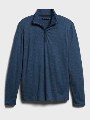 Erkek Mavi Luxury-Touch Performance Sweatshirt