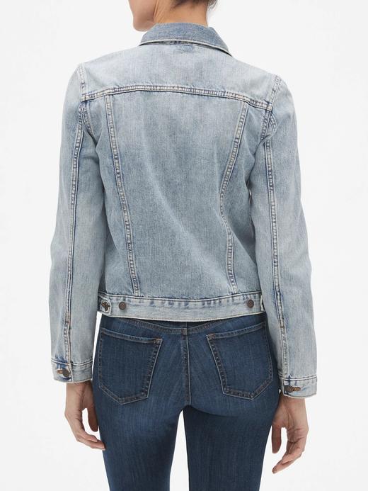 Kadın açık renk yıkama Icon Denim Ceket