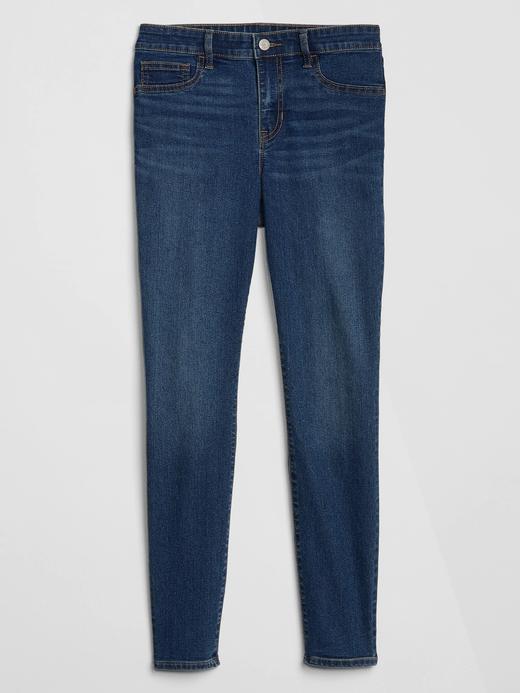 Kadın lacivert Orta Belli Legging Jean Pantolon