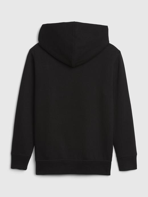 Erkek Çocuk Siyah Gap Logo Kapüşonlu Sweatshirt
