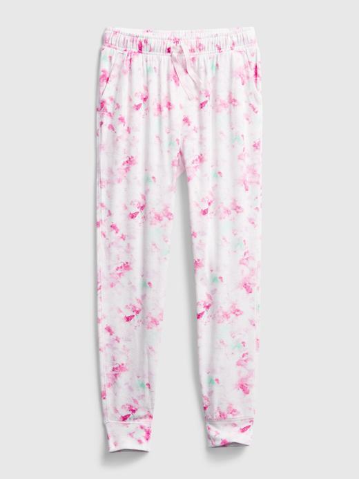 Kız Çocuk Pembe Batik Desenli Pull-On Pantolon