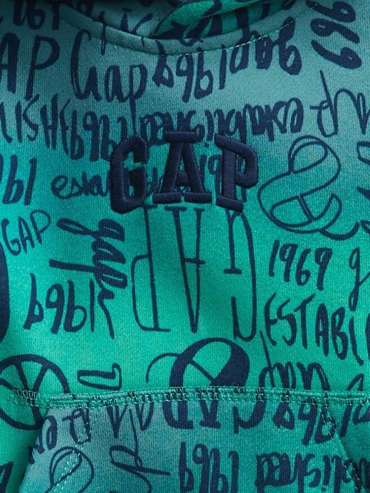 Erkek Bebek GAP LOGO Gap Logo Kapüşonlu Sweatshirt