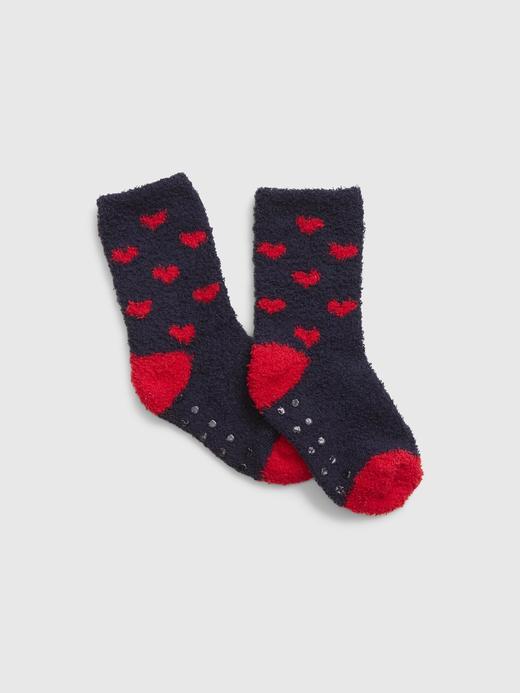 Bebek Lacivert Desenli Çorap