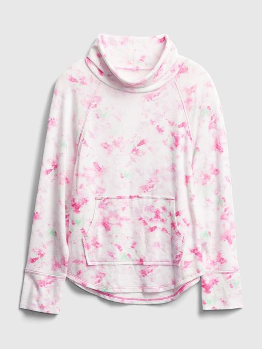 Kız Çocuk Pembe Batik Desenli Sweatshirt