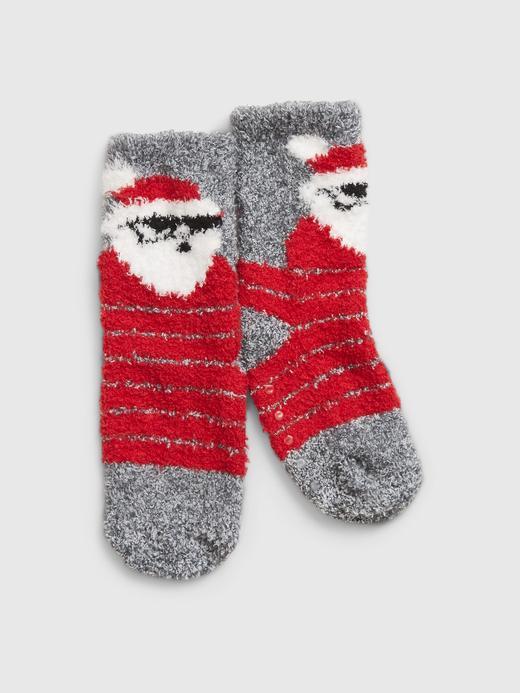 Bebek Kırmızı Desenli Çorap