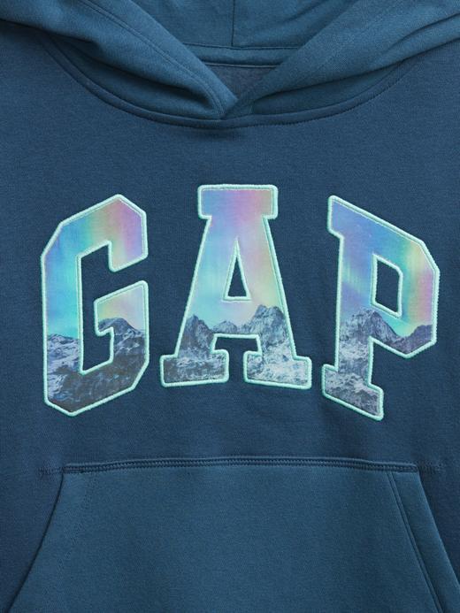 Erkek Çocuk Mavi Gap Logo Kapüşonlu Sweatshirt