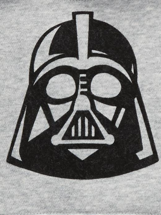Erkek Bebek gri StarWars Darth Vader Kapüşonlu Sweatshirt