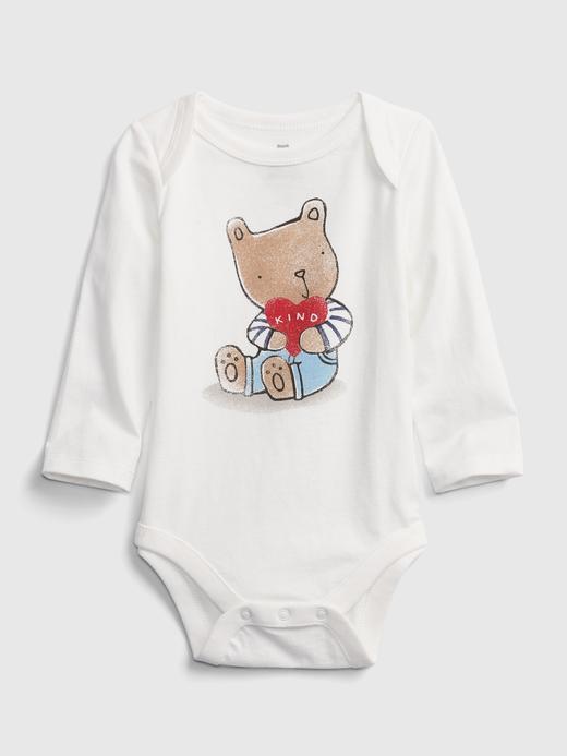 Erkek Bebek Beyaz Desenli Body