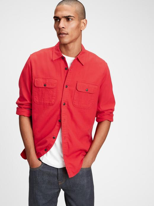 Erkek Kırmızı Standart Fit Gömlek