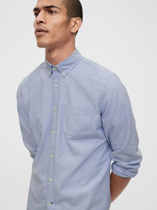 Erkek Mavi Standard Fit Oxford Gömlek