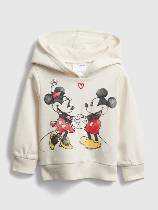 Kız Bebek Beyaz Disney Mickey Mouse ve Minnie Mouse Grafik Sweatshirt