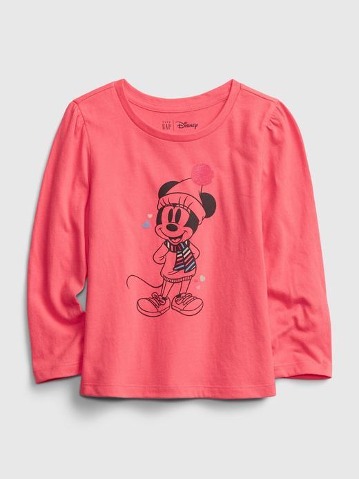 Kız Bebek pembe Disney Mickey Mouse Grafik T-Shirt