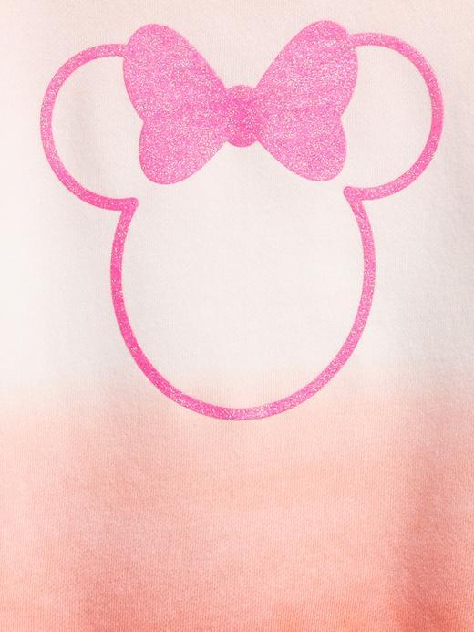 Kız Bebek Pembe Disney Minnie Mouse Batik Desenli Sweatshirt