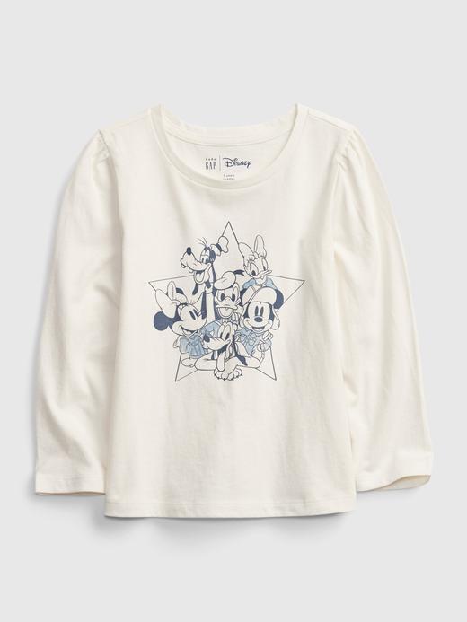 Kız Bebek Beyaz Disney Mickey ve Minnie Mouse Grafik T-Shirt