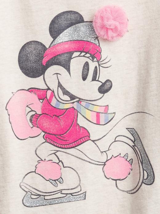 Kız Bebek bej Disney Uzun Kollu Grafik T-Shirt