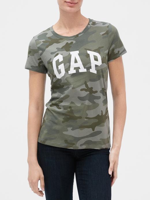 Kadın Yeşil Gap Logo Kısa Kollu T-Shirt