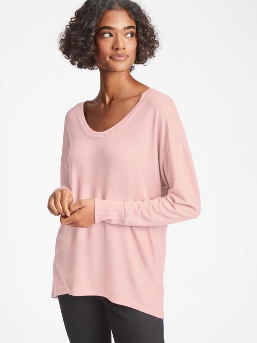 Kadın Pembe Softspun Uzun Kollu T-Shirt