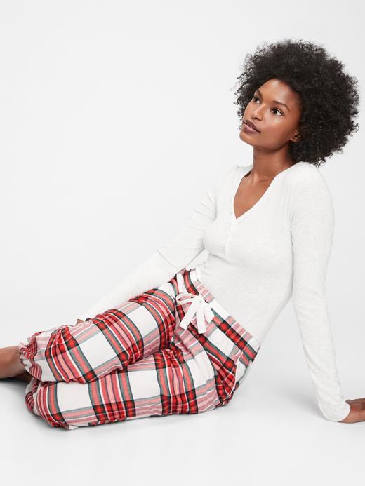 Kadın kirmizi Desenli Pijama Altı
