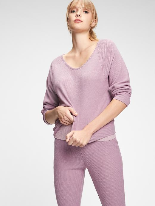 Kadın Pembe Softspun Pijama Üstü