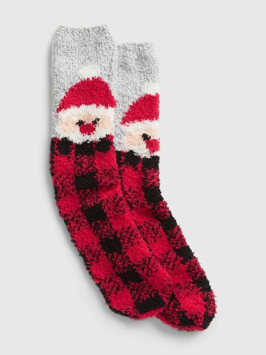 Kadın Kırmızı Desenli Cozy Çorap